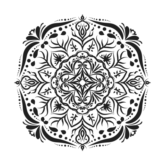 Pattern background illustration and. Mandala vector png