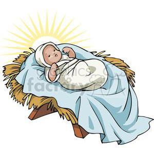 Manger clipart. Royalty free baby jesus