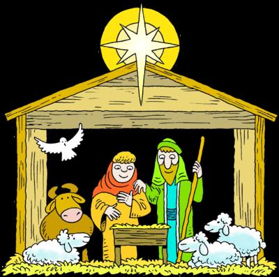 Mary joseph birth . Nativity clipart baby jesus manger