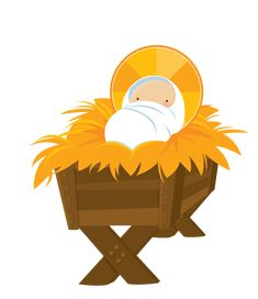 Away in a at. Manger clipart