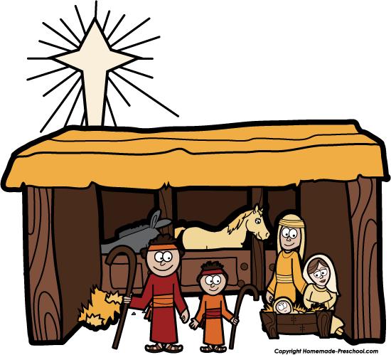 Nativity clipart copyright free. Manger scene download best