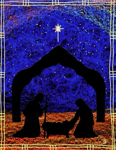 Christmas nativity heavenly child. Manger clipart bulletin