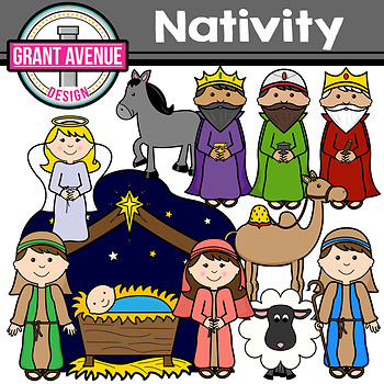 Manger clipart christmas story. Nativity the clip art
