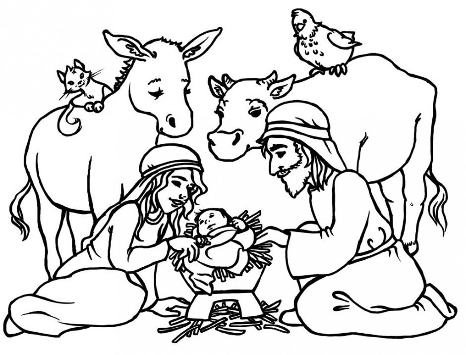 Best of . Manger clipart coloring page