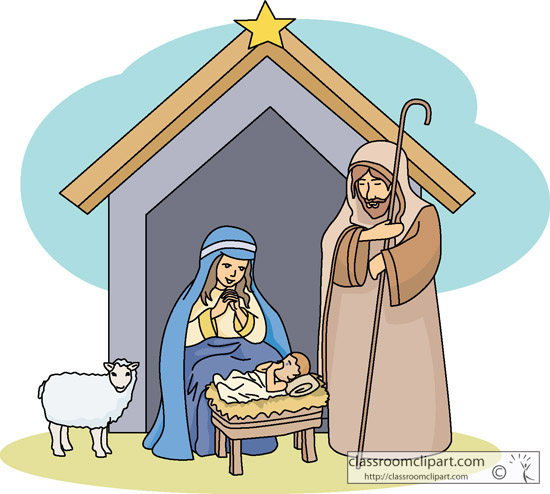 Manger clipart creche. Free christmas cliparts download