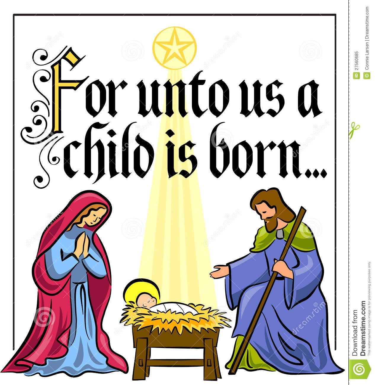 Bible nativity quotes set. Manger clipart creche