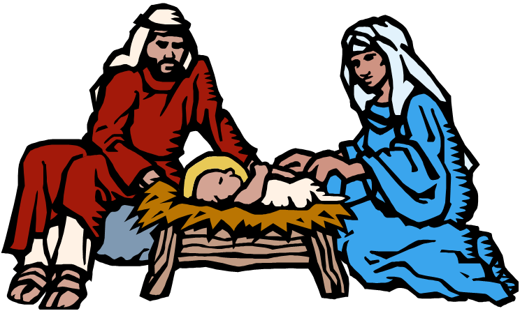 Quia th grade christmas. Manger clipart holy family