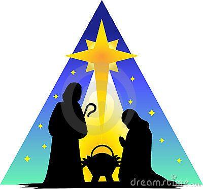 Nativity silhouette clip art. Manger clipart holy family