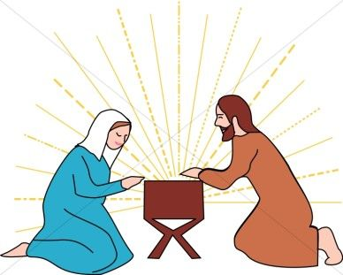 Manger clipart mary. Jesus in the with