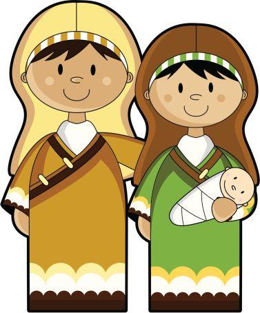 Manger clipart mary. Joseph and baby jesus