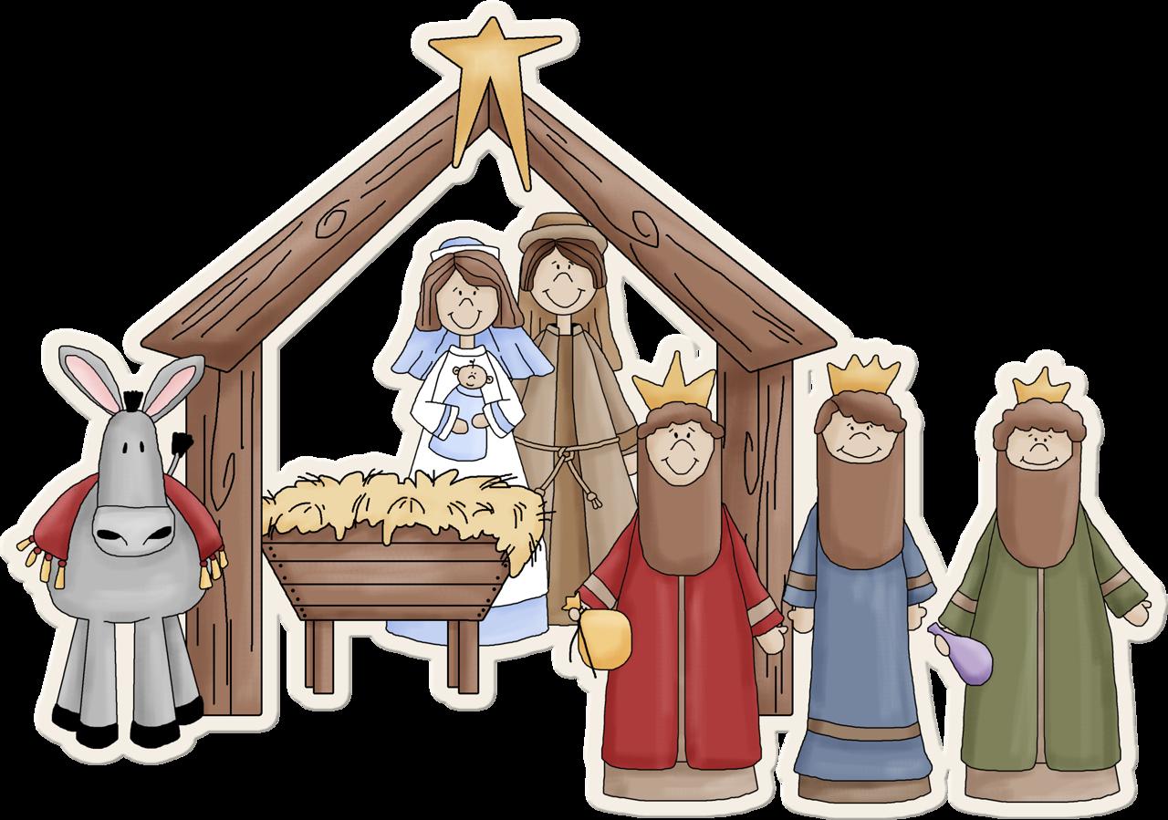 arana christmas clip. Manger clipart mass