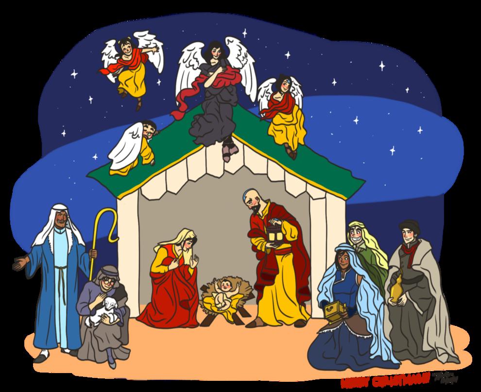 Scene by lok xelartworks. Nativity clipart character