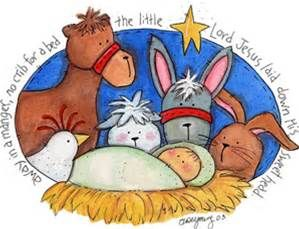 Nativity clipart baby jesus manger. Free of in a