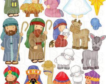 Clip art christmas . Manger clipart nativity shepherd