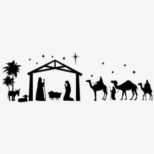 Nativity clipart religous. Religious christmas scene