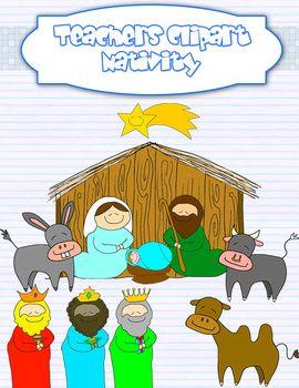 Nativity clipart school christmas program. Scene christian graphics and