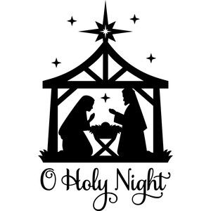 Silhouette design store o. Nativity clipart silent night
