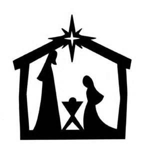 Printable nativity clip art. Manger clipart silhouette