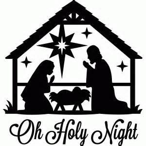 Manger clipart silhouette. Free printable christmas bing
