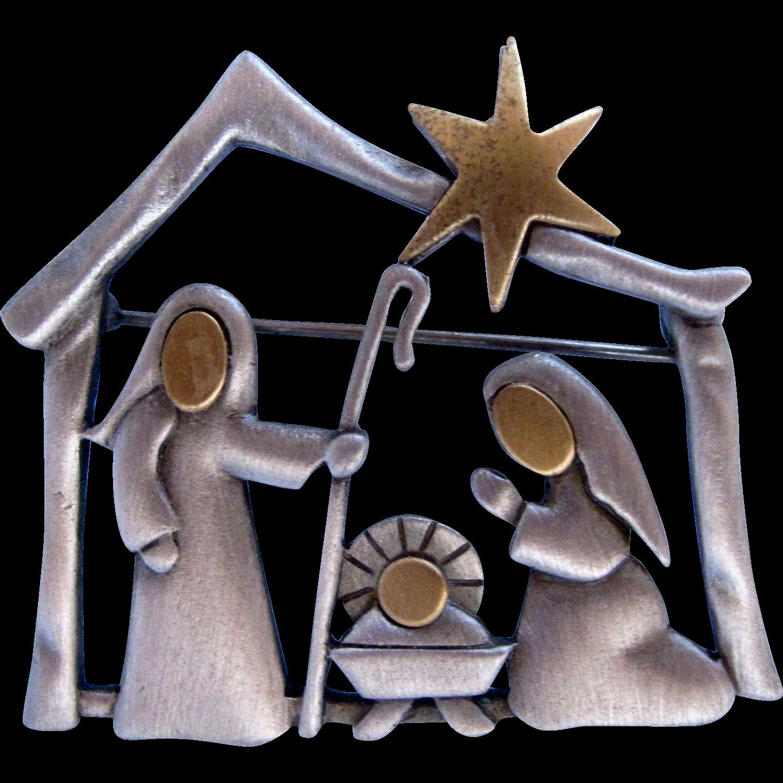 Manger clipart vintage. Jj nativity scene christmas
