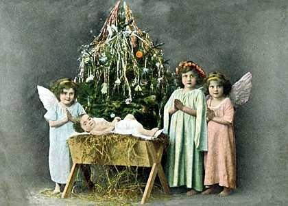 Manger clipart vintage. Free christmas cards baby
