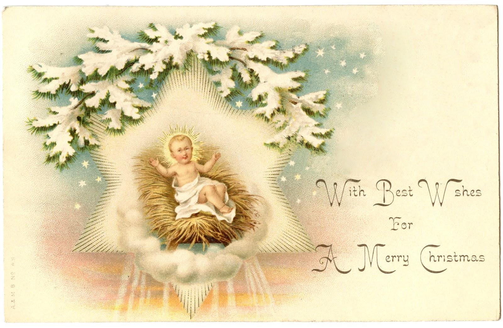Christmas image beautiful jesus. Manger clipart vintage
