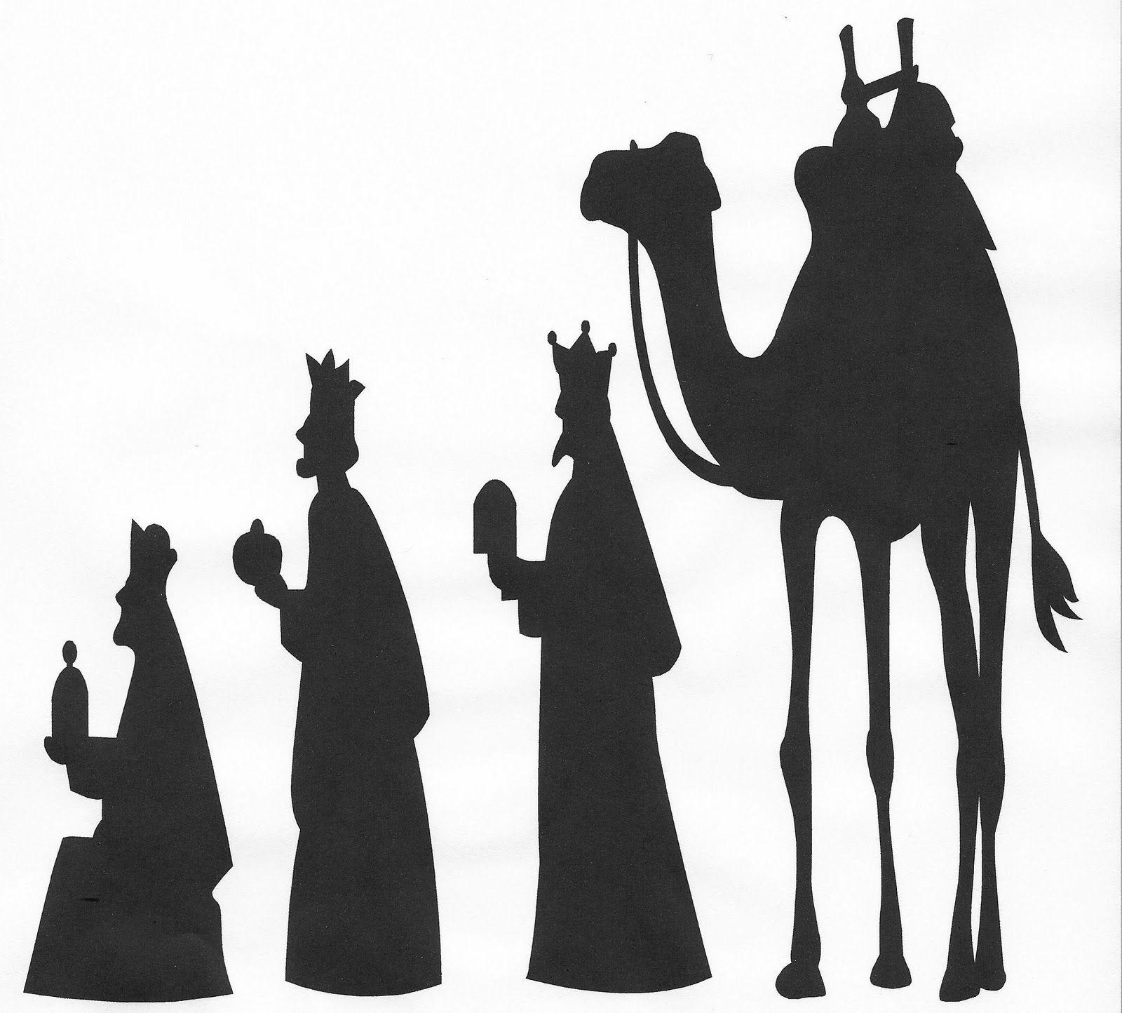 Manger clipart wisemen. Wise men silhouette clip