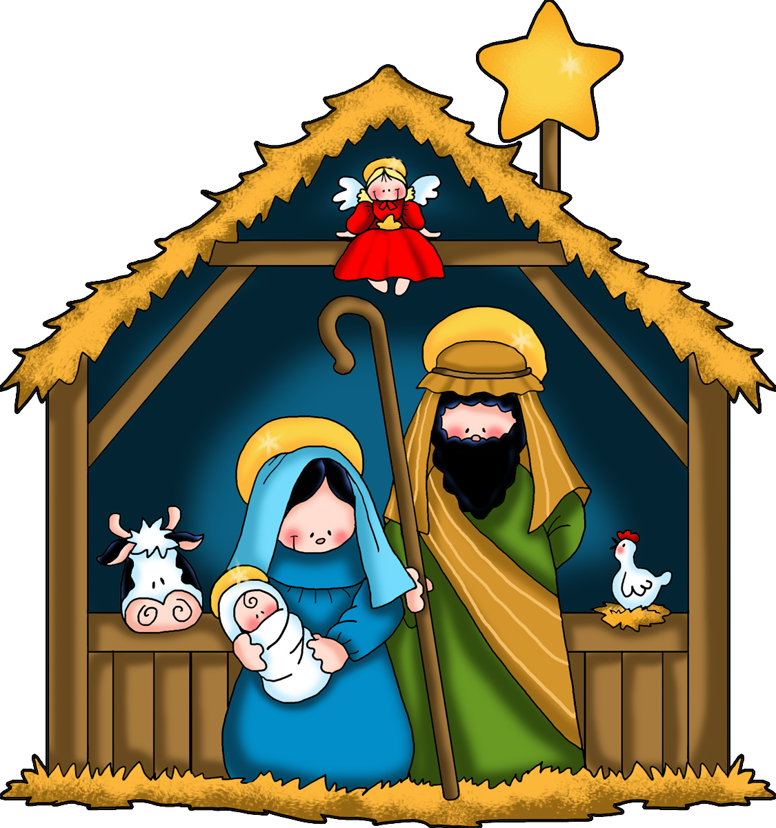 Preschool clipart christmas. The nativity children free