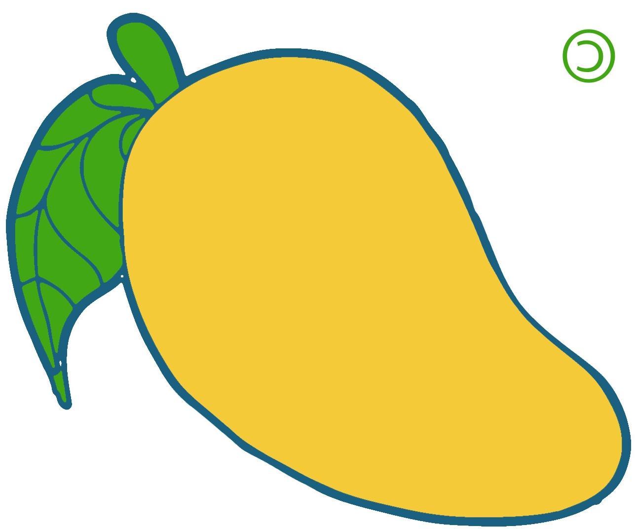 Mango clipart. Unique yellow cdr vector
