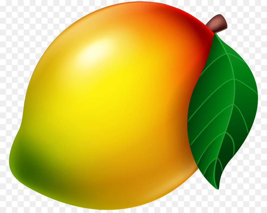 Green leaf background fruit. Mango clipart aam