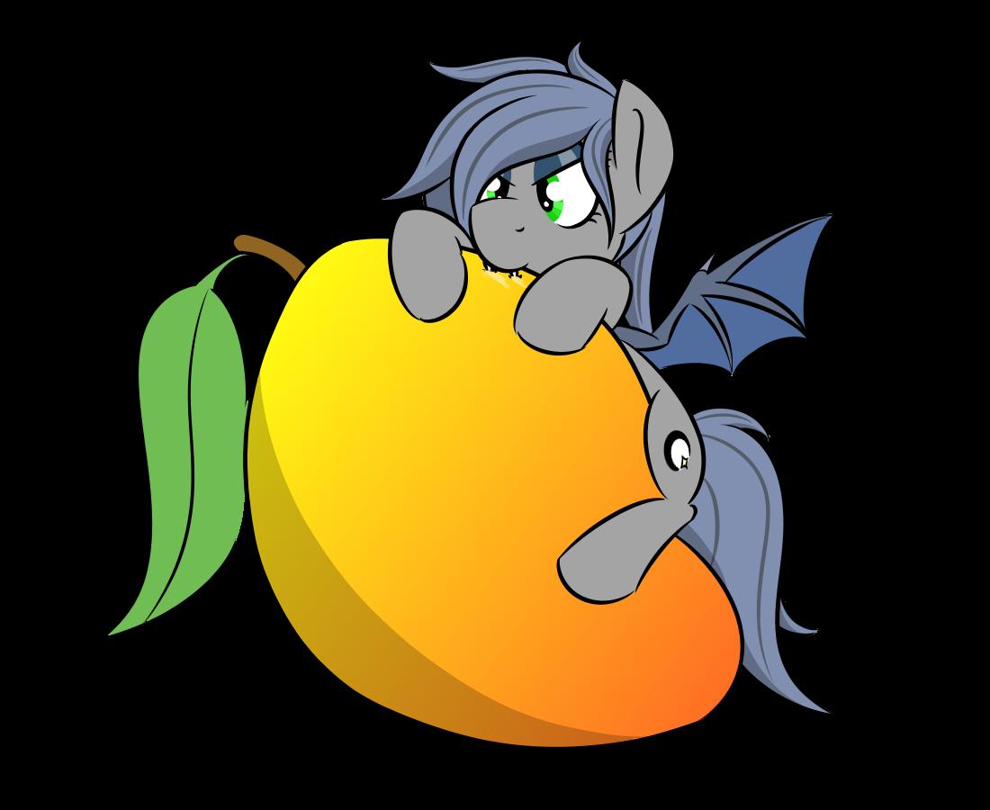Mango clipart bat.  artist glimglam pony