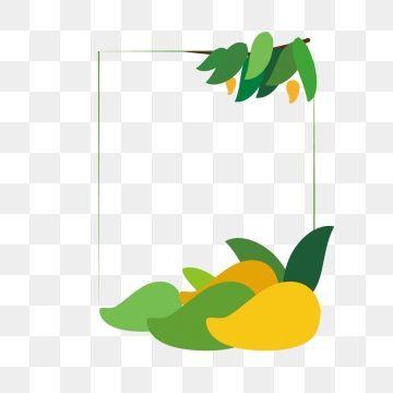 summer fruit hand. Mango clipart border