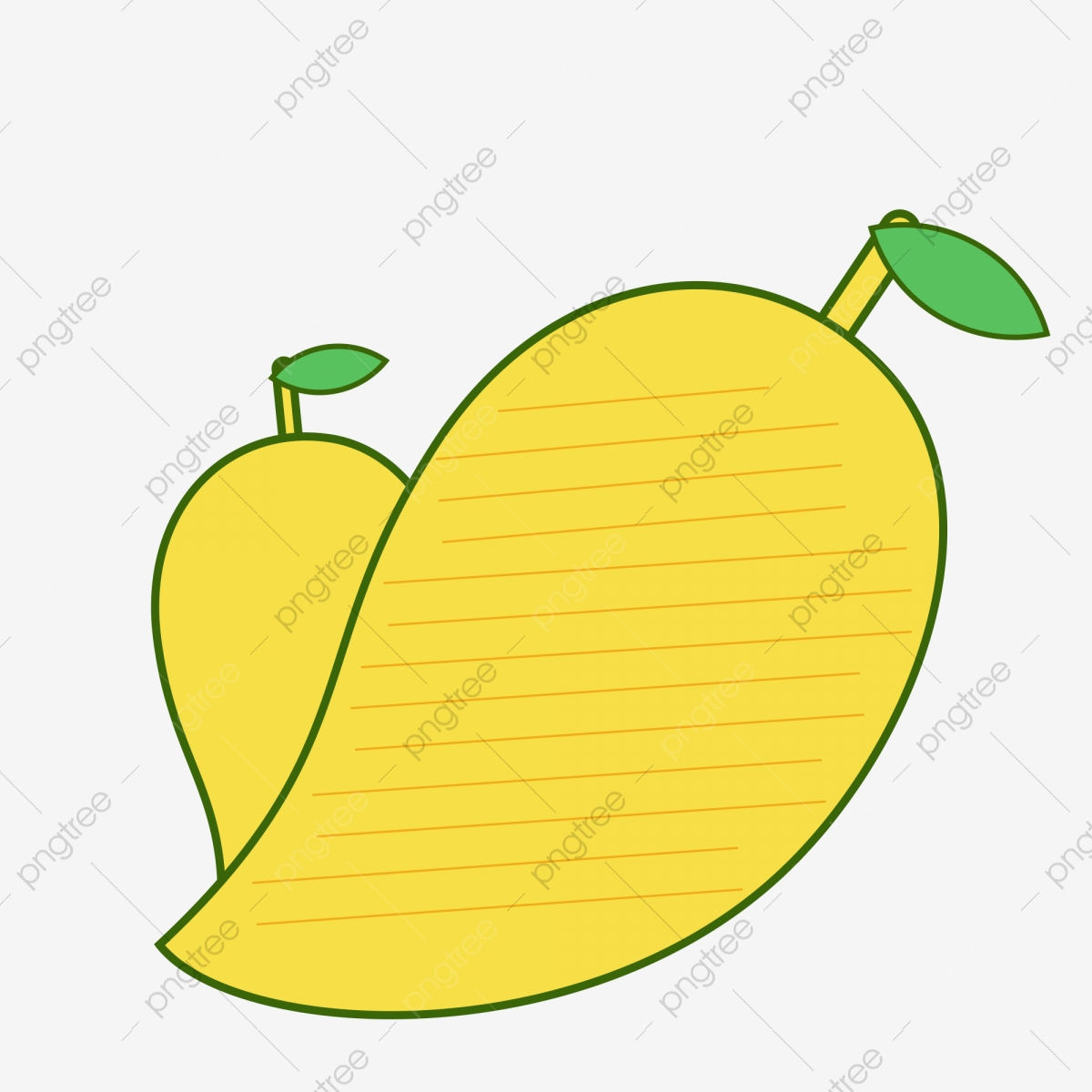 Small fresh fruit text. Mango clipart box