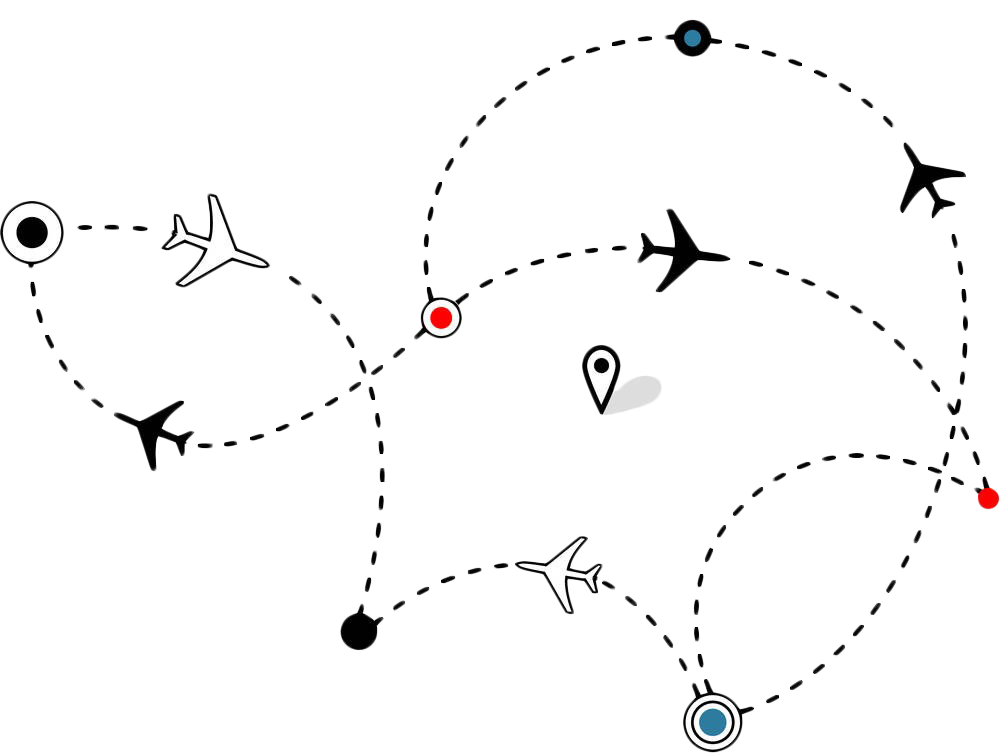 Flight airplane air travel. Mango clipart dotted