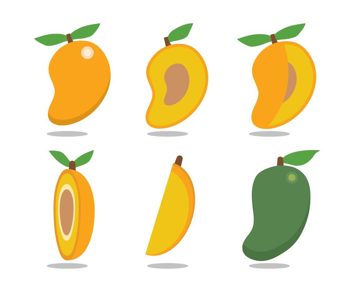 Mango clipart half mango. X free clip art