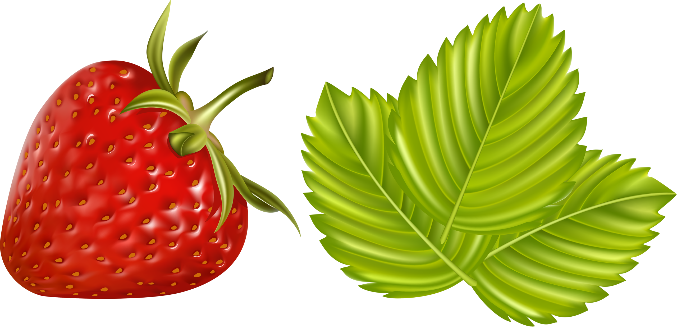 Fruits vegetables and berries. Strawberries clipart 8 object