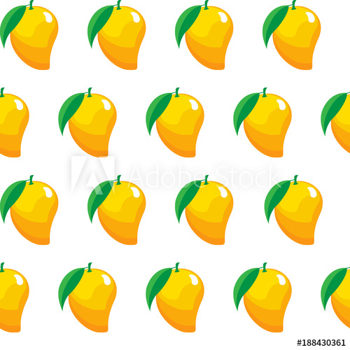 Mango clipart jpeg. Fruit contour abstract seamless