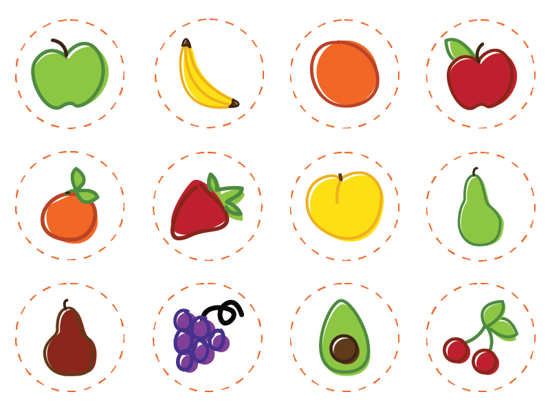 fruit icon set png