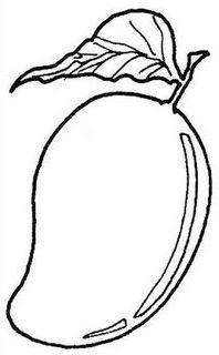 Mango clipart line art. Clip drawing kindergarten worksheet