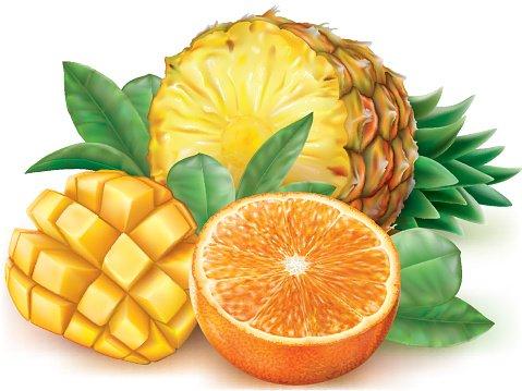 Mango clipart orange. Pineapple premium clipartlogo com