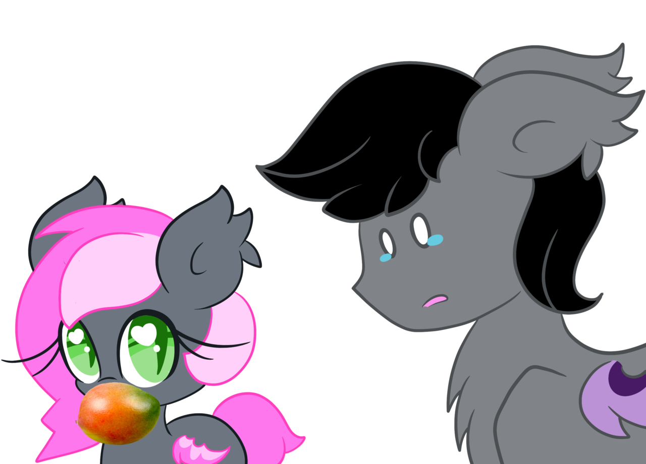 artist lorehoshiko bat. Mango clipart pony