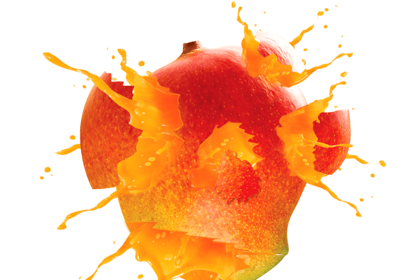 Exploding juice png free. Mango clipart red