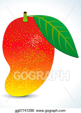 Stock illustrations juicy with. Mango clipart red