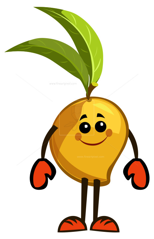Mango clipart sign. Fruit free vectors illustrations