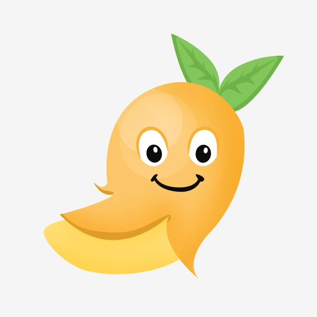 Cute smiley illustration face. Mango clipart smile