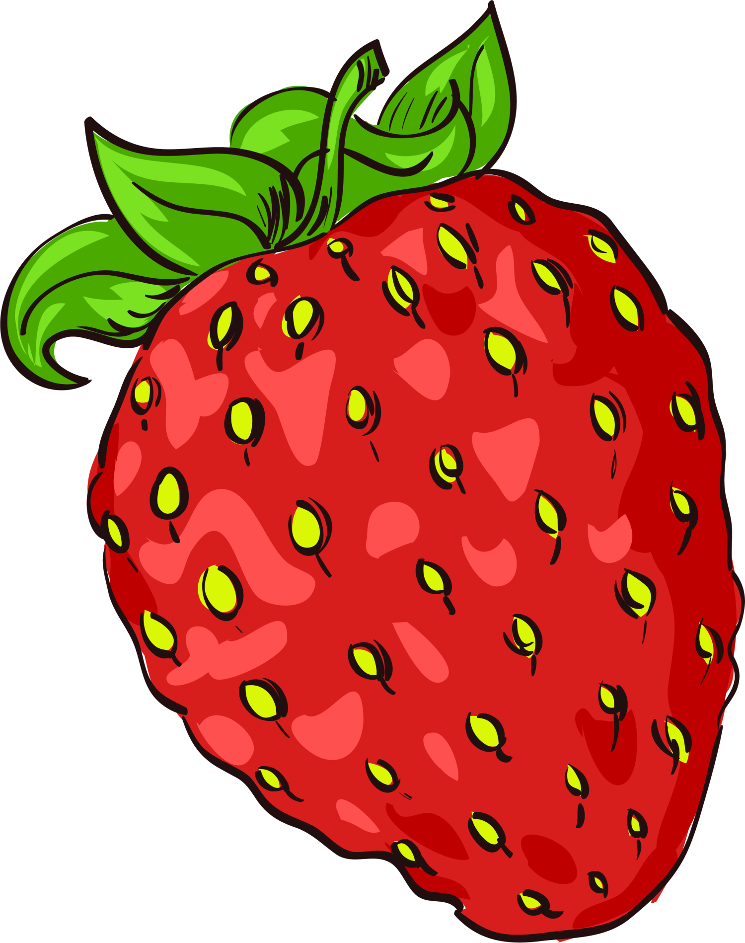 Strawberry accessory fruit cartoon. Strawberries clipart fruitsblack