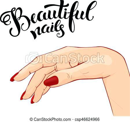 Manicure clipart. Clip art beautiful illustration
