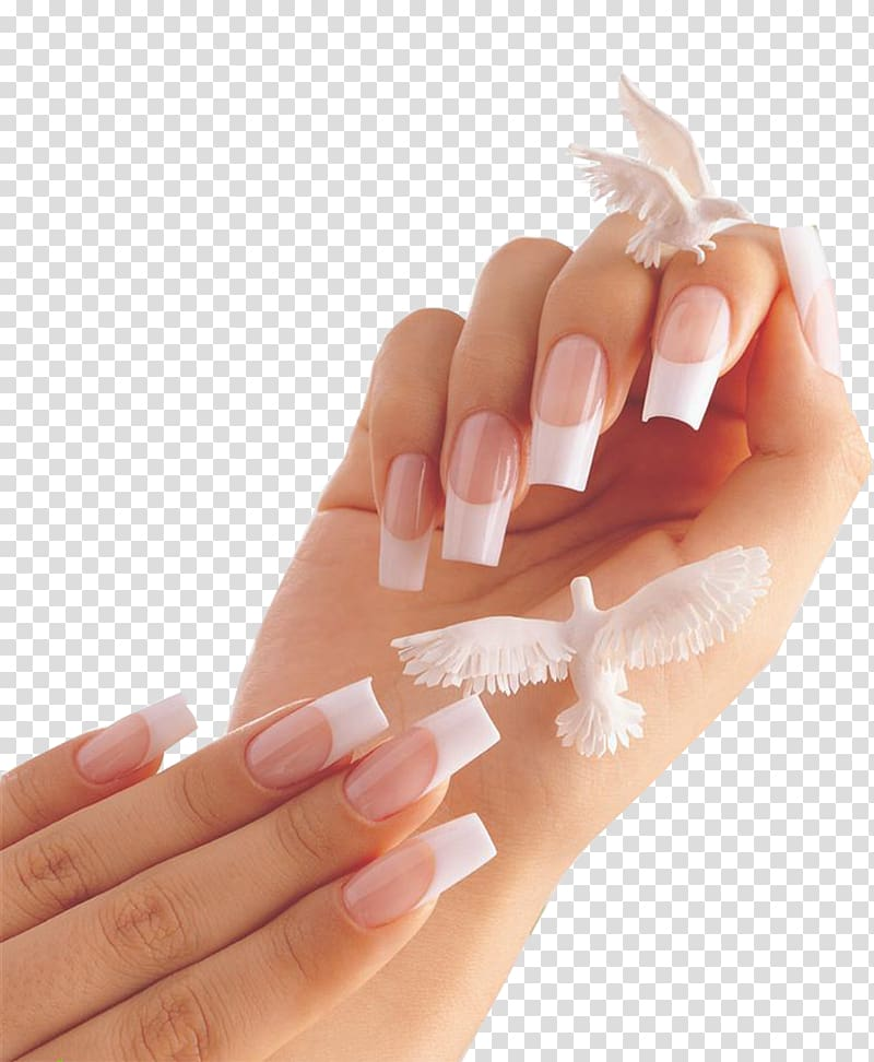 White and pink tip. Nails clipart french manicure