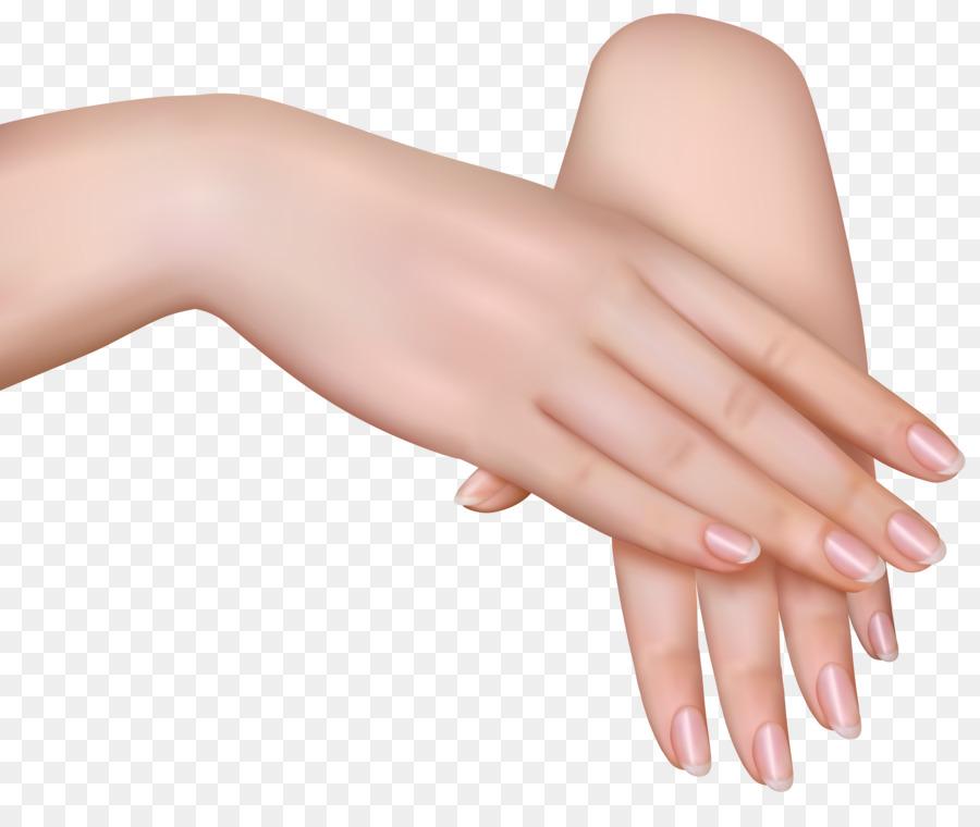 Woman cartoon manicure transparent. Nail clipart female hand