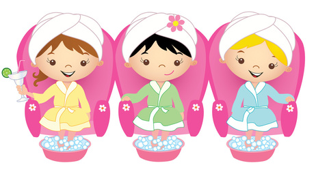 Free spa girl cliparts. Manicure clipart kid